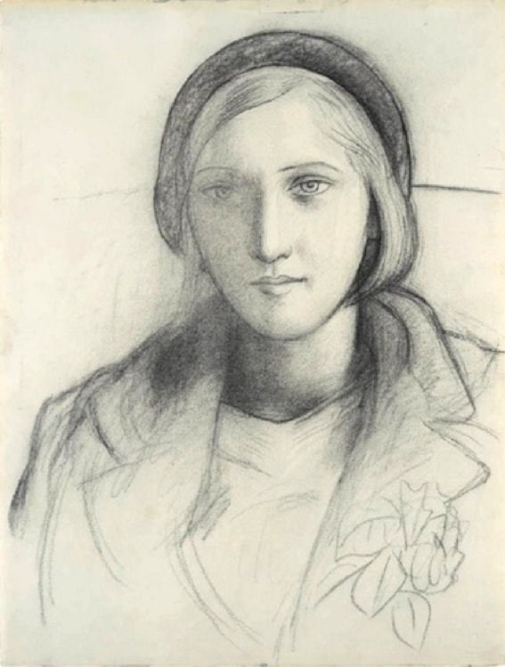 Charcoal Sketch of Marie Therese