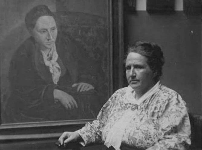 gertrude-stein-with-her-portrait.jpg (668×495)