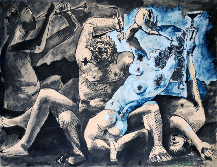 Bacchanale, 1955 by Pablo Picasso