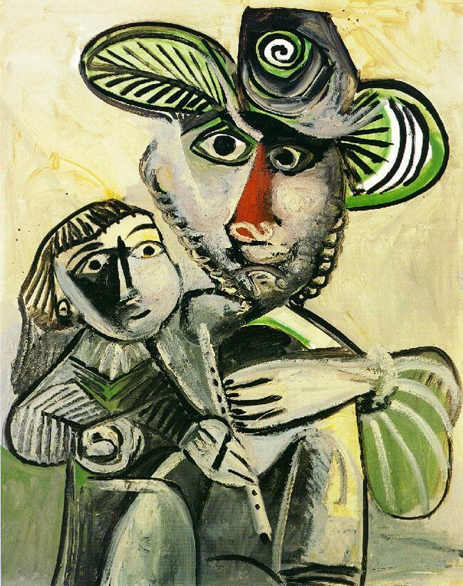 Fatherhood, 1971 by Pablo Picasso