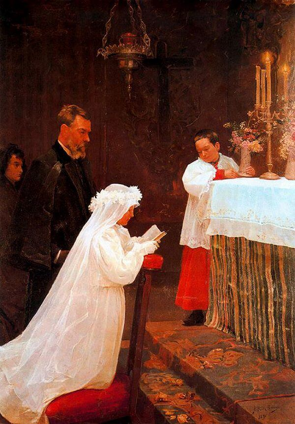 First Communion, 1869 by Pablo Picasso