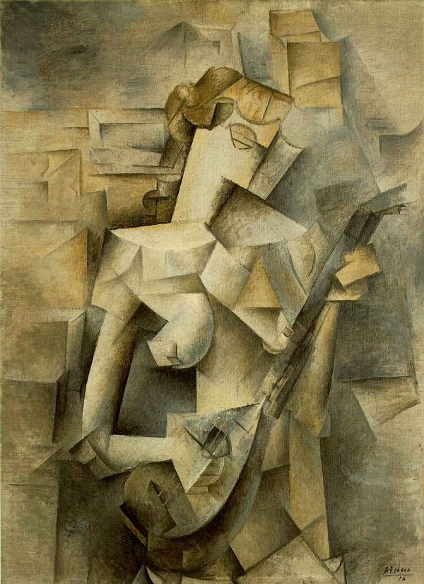 Girl with a Mandolin, 1910 by Pablo Picasso