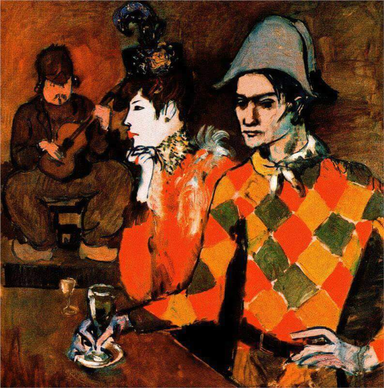 harlequin with glass 1905 by pablo picasso. Black Bedroom Furniture Sets. Home Design Ideas