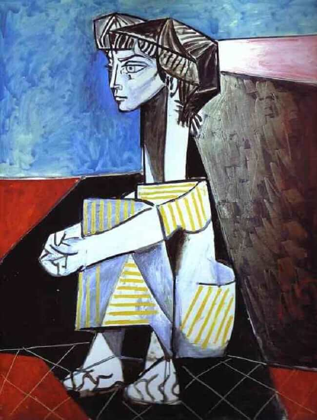 Jacqueline Kneeling, 1954 by Pablo Picasso