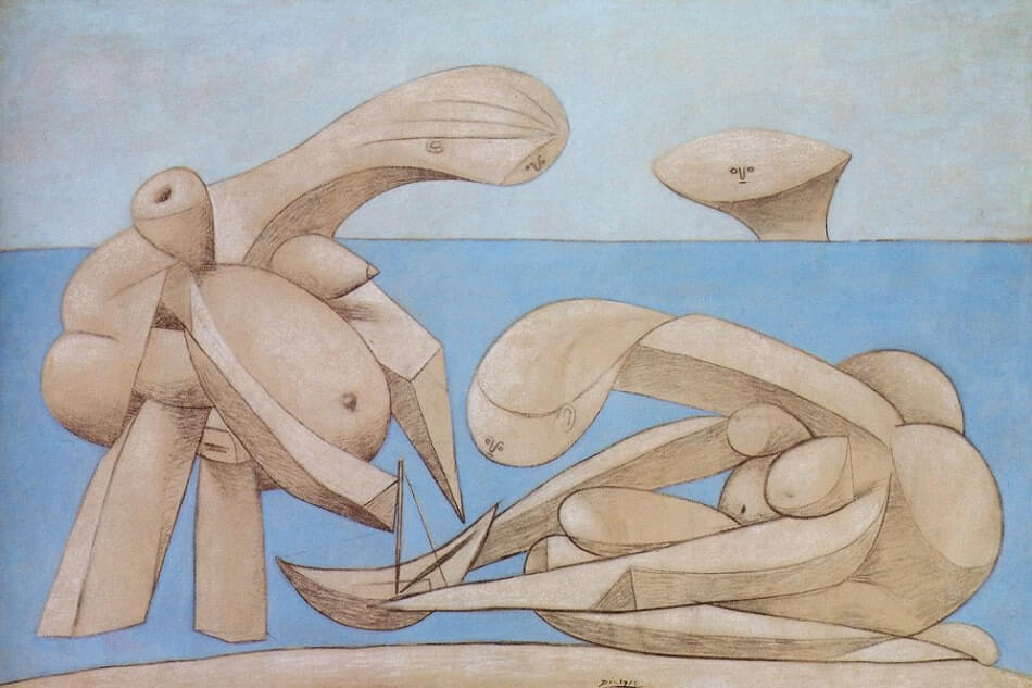 On the Beach, 1937 by Pablo Picasso