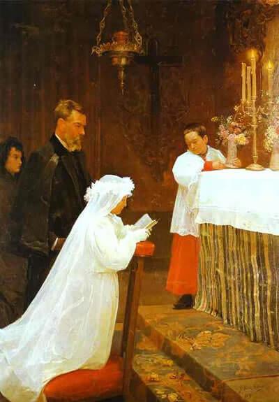 La première communion (First Communion) by Pablo Picasso (1896)