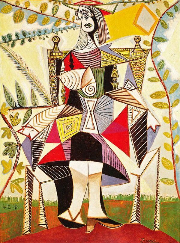 Seated Woman in a Garden, 1938 by Pablo Picasso
