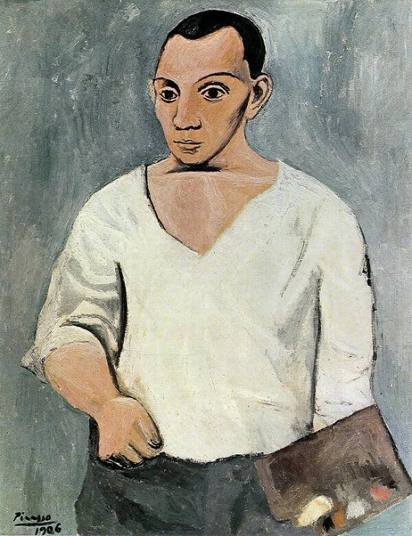 Self Portrait With Palette, 1906 by Pablo Picasso