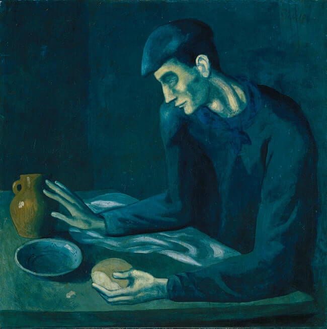 Pablo Picasso The Blind Man's Meal,1903 Color Lithograph from the Blue Period