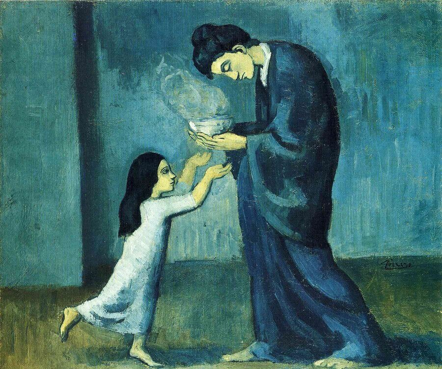 pablo picasso blue period painting