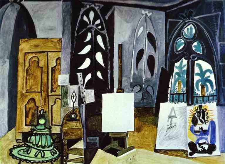 The Studio at La Colifornie, 1956 by Pablo Picasso