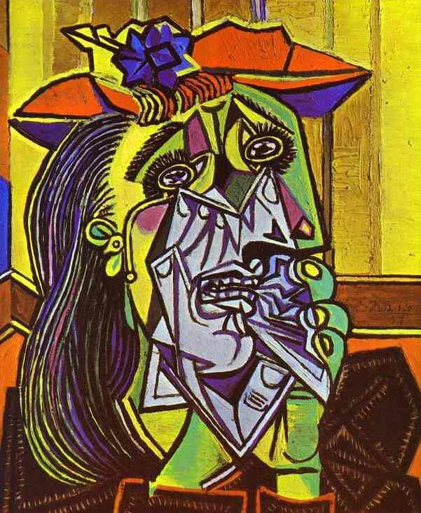 cubism the weeping woman He preferred his wives petite picasso was married twice and had four children by three women the weeping woman, pablo picasso image from tateorguk pablo picasso is widely known for co-founding the cubist movement, a style that focuses its subjects to geometric forms in turn, this paved the.