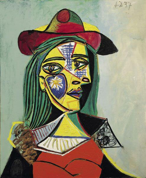 Woman in Hat and Fur Collar, 1937 by Pablo Picasso
