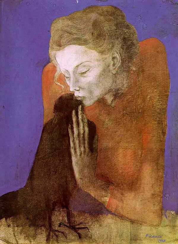 Woman with a Crow, 1904 by Pablo Picasso