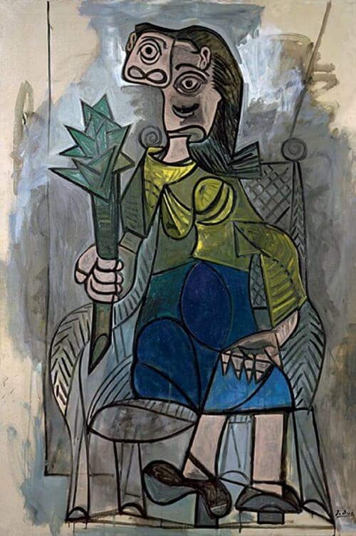 Woman with Artichoke, 1941  by Pablo Picasso