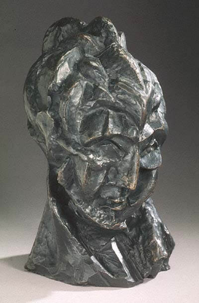 Woman's Head, 1909 by Pablo Picasso | 400 x 609 jpeg 42kB